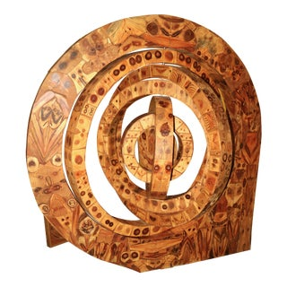 Huge Marquetry Sculpture by Alford Richard