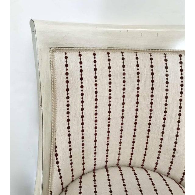 Cream 1980s Vintage Italian Chair For Sale - Image 8 of 10