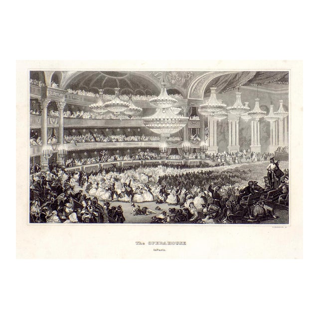 """The Opera House in Paris"" 1855 Engraving - Image 1 of 6"