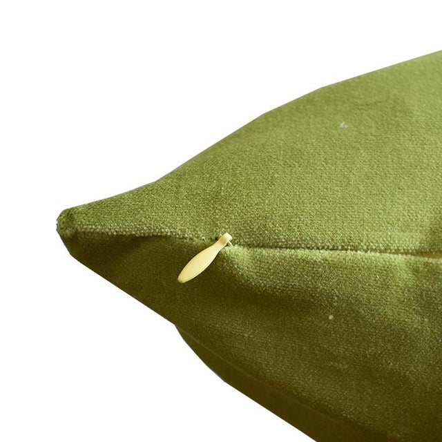 """Offered is a pair of 19"""" x 19"""" pillow covers in a beautiful green cotton velvet. Like all velvets, the color will vary..."""