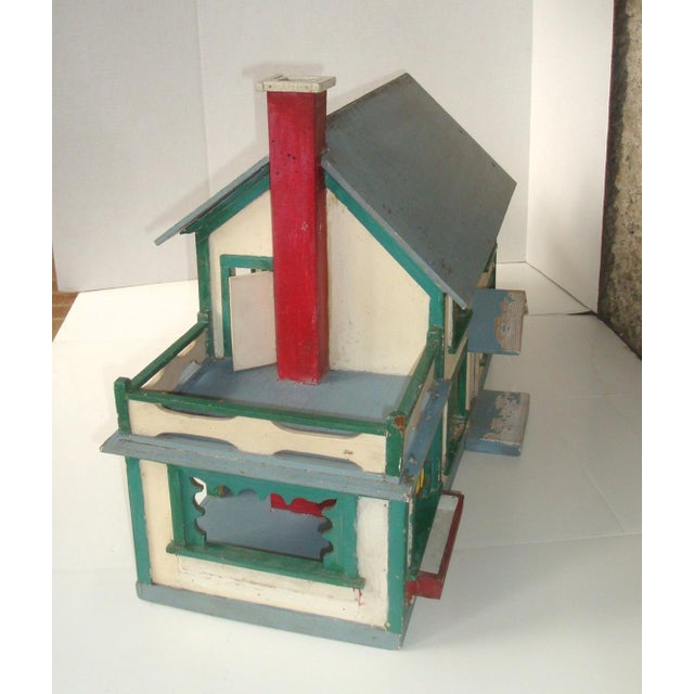 Fantastic large model of a circa 1920-30s home, entirely made by hand. Lots of exterior details including working hinged...