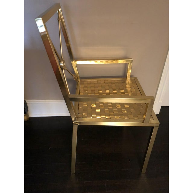 1960s Glimmering Show Stealer Heavy Brass Neoclassical Armchairs by Mastercraft For Sale - Image 5 of 12