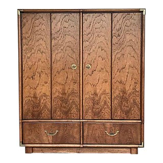 Drexel Campaign Style Cabinet Dresser