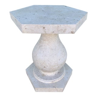 Maitland-Smith Style Tessellated Stone Table For Sale