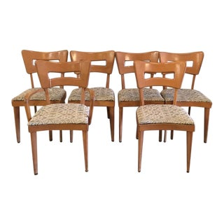 "Heywood Wakefield Set of Six ""Dog Biscuit"" Dining Chairs For Sale"