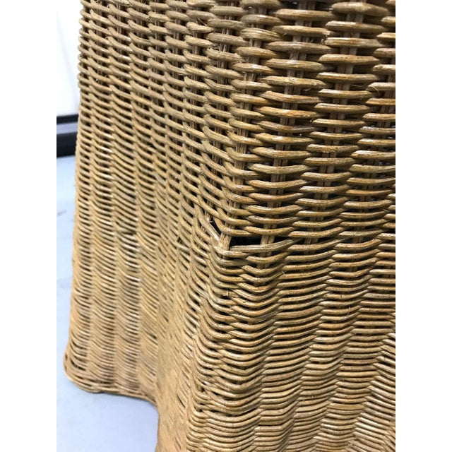"""Vintage Wicker Trompe l'Oeil """"Draped"""" Table For Sale - Image 10 of 12"""