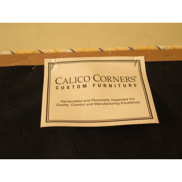 Calico Corners Custom Upholstered Ottomans - A Pair For Sale - Image 9 of 10