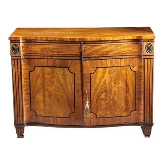 A George Iii Serpentine Cabinet For Sale