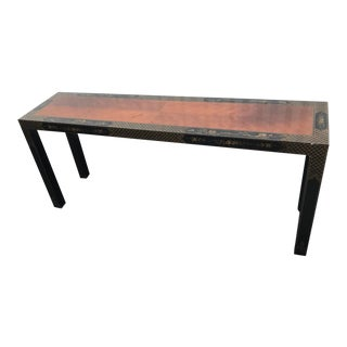 Drexel Heritage Etc Cetera Chinoiserie Parsons Console Table For Sale