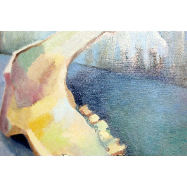 Mid-Century Modern Mid Century Modern Framed Impressionist Oil Canvas Painting Signed B. Rosenbaum For Sale - Image 3 of 7
