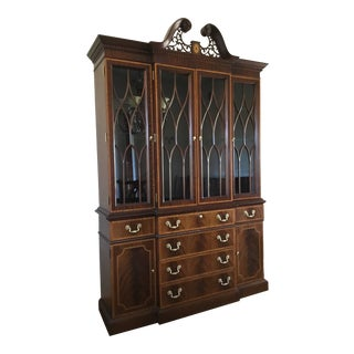 Councill Craftsman Mahogany Breakfront/China Cabinet. For Sale