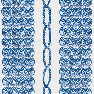 Schumacher Coralline Wallpaper in Blue For Sale