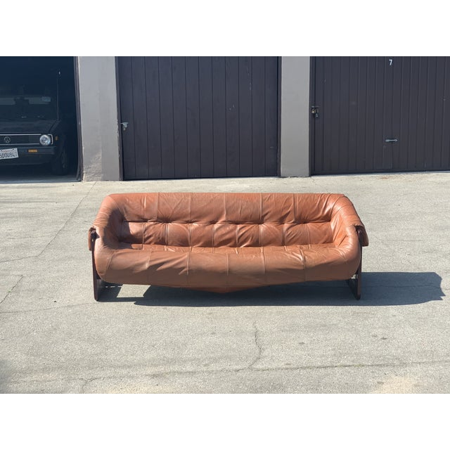 Mid-Century Percival Lafer Brazilian Leather Sofa For Sale In Los Angeles - Image 6 of 13