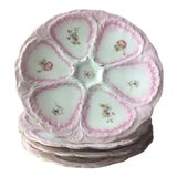 Image of 19th Century Antique French Country Style Porcelain Oyster Plates-Set of 4 For Sale