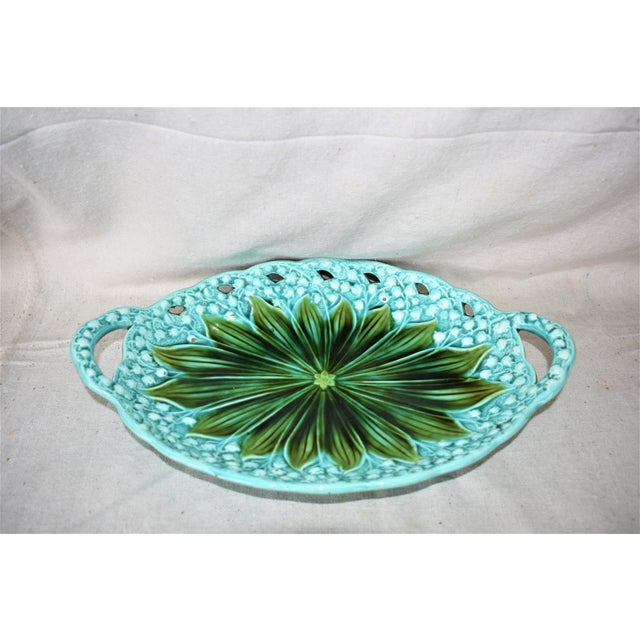 Art Nouveau 1930s Villeroy Boch Lilly of the Valley Platter For Sale - Image 3 of 10