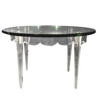 Lucite Grosfeld House Low Table Lorin Jackson For Sale