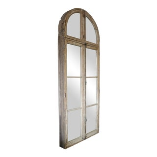 Antique Architectural Wood Frame Mirror For Sale