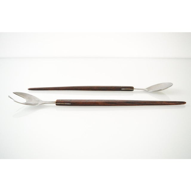 1960s Mid-Century Danish Modern Salad Serving Set - A Pair For Sale - Image 5 of 5