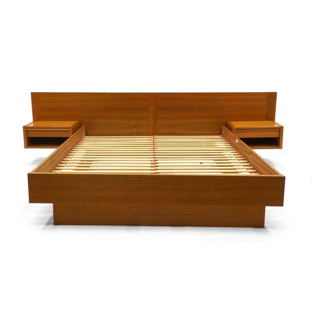 Sophisticated Jesper Danish Modern Teak Queen Platform Bed ...