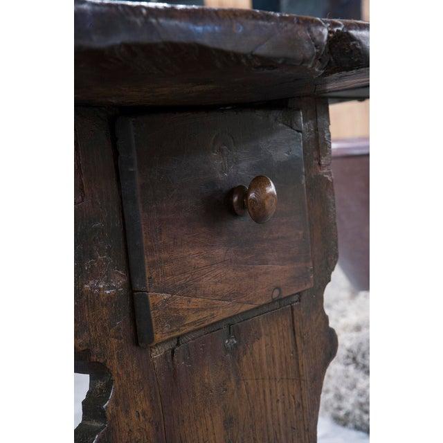 Italian Walnut Dropleaf Table For Sale - Image 4 of 6