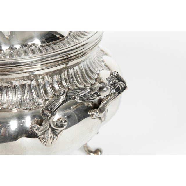 Large Antique Sterling Silver Two Piece Covered Tureen For Sale In New York - Image 6 of 13