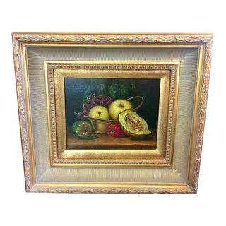 Original Gold Framed Still Life Oil Painting For Sale