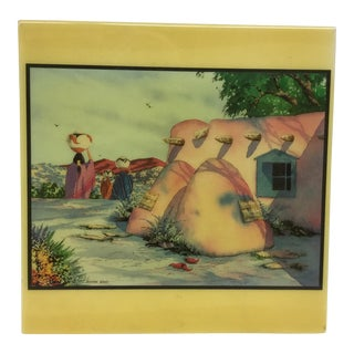 Doreman Burns Watercolor Hand Painted Tile