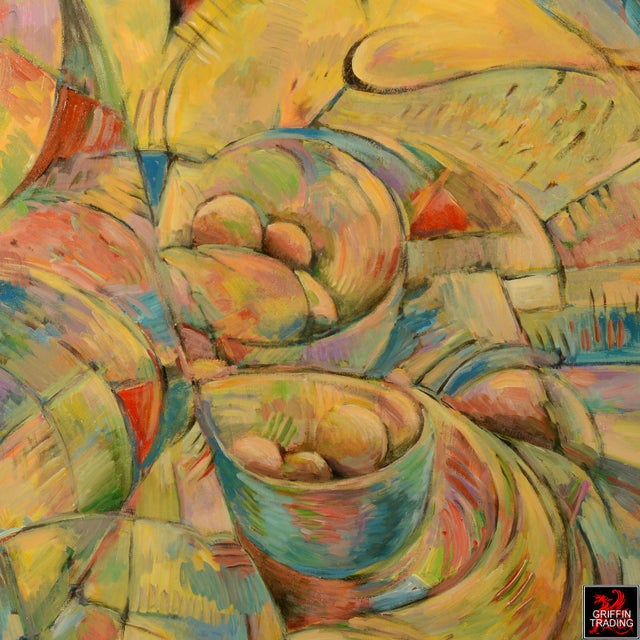 Abstract Table for Kandinsky Painting For Sale - Image 3 of 5