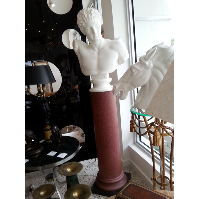This stylish and chic plaster bust of Hermes was acquired from a Palm Beach estate and will make a statement piece in your...