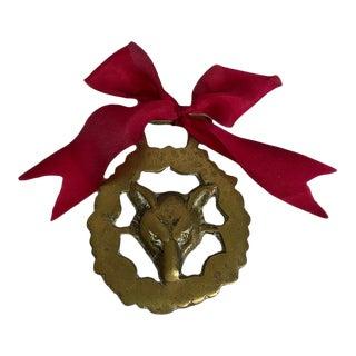 Antique Horse Brass Ornament - Fox For Sale