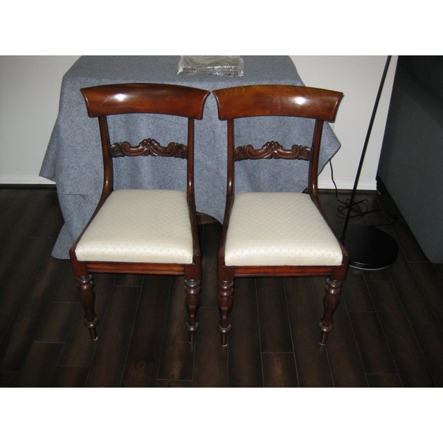 Regency Mahogany Side Chairs - A Pair - Image 2 of 4