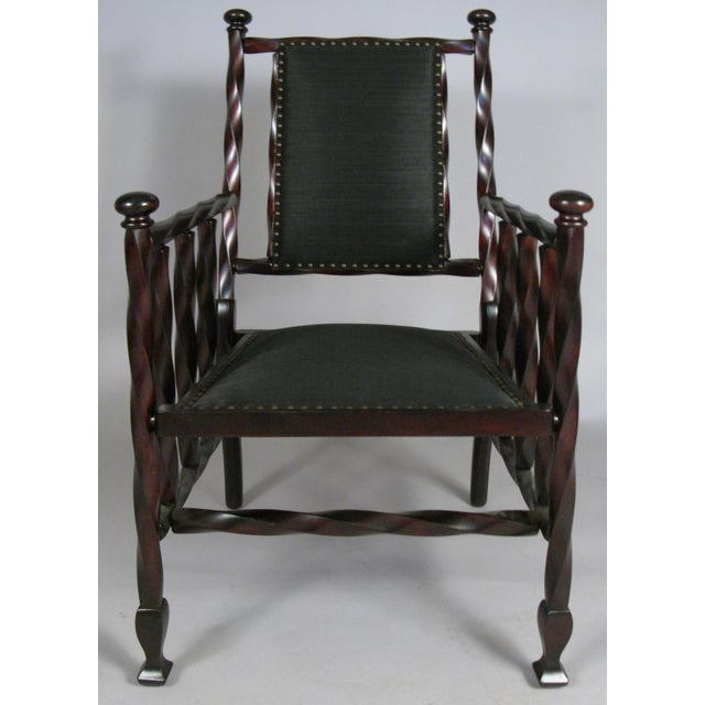 English Barley Twist Armchair by George Hunzinger For Sale - Image 3 of 7