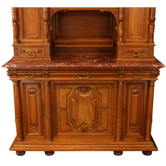 Renaissance 1900 French Renaissance Carved Buffet For Sale - Image 3 of 8