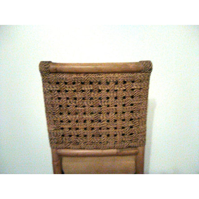 Palecek Palecek Bamboo, Leather and Jute Barstools- Set of 3 For Sale - Image 4 of 9