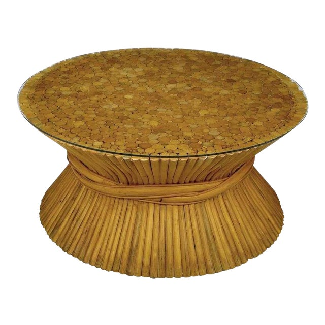 Sheaf Of Bamboo Coffee Table Attr McGuire - Image 1 of 7
