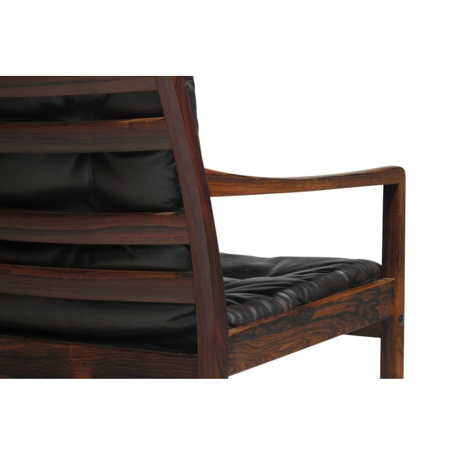 Ole Wanscher Rosewood Lounge Chairs in Original Leather - a Pair For Sale - Image 10 of 11