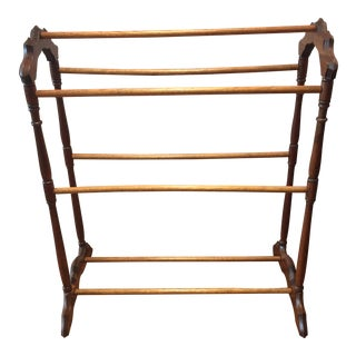 Early 20th Century Walnut Blanket Rack For Sale