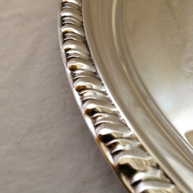 Metal 1975 Engraved April Fools Invitational Silver Plate Tray For Sale - Image 7 of 11