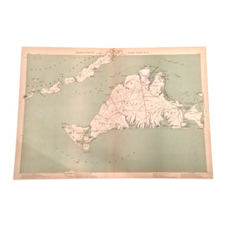 Map of Martha's Vineyard by Geo. H. Walker & Co. For Sale