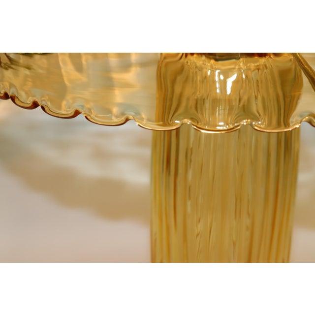 Murano Rare Mid-Century Modern Murano Glass Table Lamp For Sale - Image 4 of 13