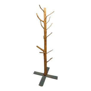 Adirondack Tree Sculpture Coat Rack For Sale