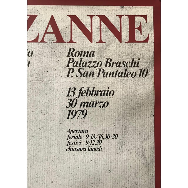French 1979 Original Italian Cézanne Exhibition Poster, Palazzo Braschi, Rome For Sale - Image 3 of 8