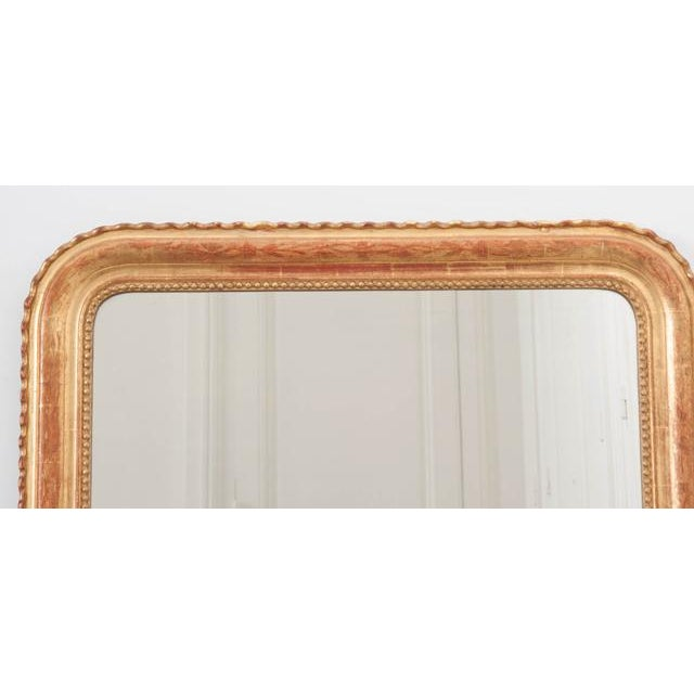 French French 19th Century Gold Gilt Louis Philippe Mirror For Sale - Image 3 of 9