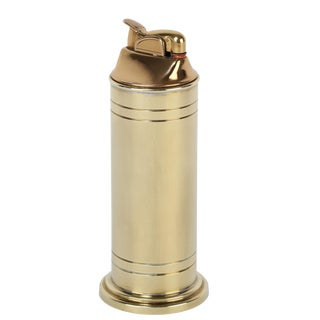 Tommi Parzinger brass table lighter, circa 1950s For Sale