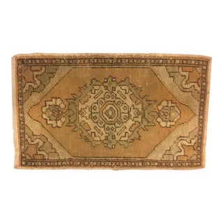 Anatolian Handwoven Wool Carpet - 1′8″ × 2′9″