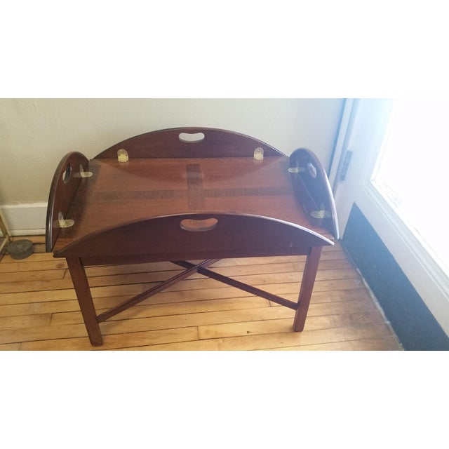 Vintage Mahogany Butler's Table - Image 2 of 10