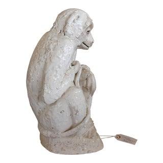 Great Ceramic Monkey or Chimpanzee Sculpture