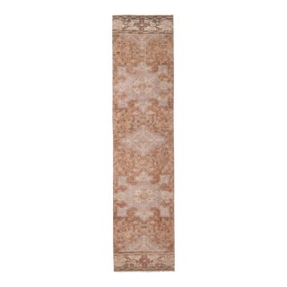"Narrow Oushak Rug Runner With Brillant Colors 2'5"" X 9'12"" For Sale"