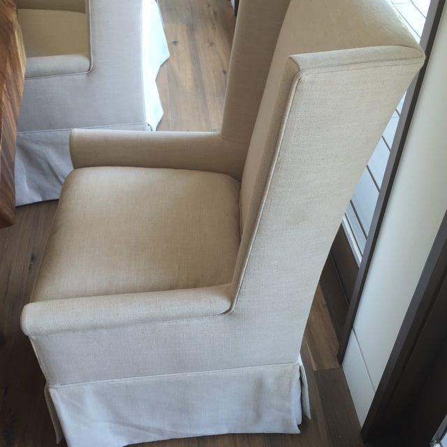 Linen Dining Chairs - Set of 7 - Image 7 of 11
