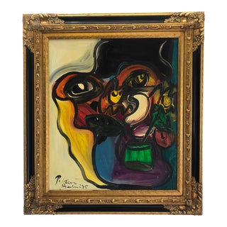 """""""Mask With Flowers"""" by Peter Keil, Berlin, 1975 For Sale"""